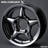 WILDBOAR X 15inch ハイパークロームメタリック  ジムニーJB43,JB33,JB32,JB31用 アルミホイール